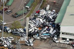 جدیدترین تصاویر از خسارت طوفان مرگبار در ژاپن