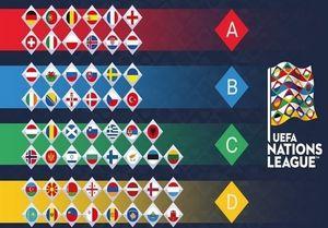عکس/ جدول چهار گروه لیگ ملتهای اروپا