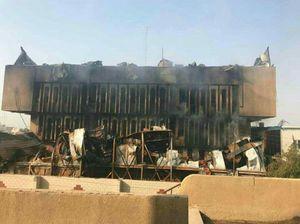 شورای استانداری بصره عراق بار دیگر آتش گرفت
