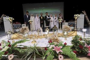 عکس/جشن ازدواج 200 زوج با همت آستان قدس
