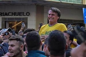 فیلم/ لحظه چاقو خوردن ترامپ برزیل!
