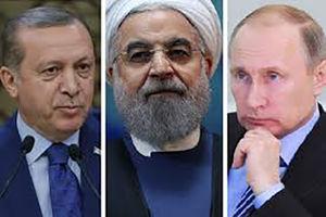 عکس/ دستان پوتین و اردوغان در دست روحانی