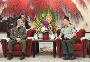 امیر حاتمی با معاون کمیسیون مرکزی نظامی چین دیدار کرد