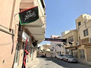 عکس/ خیابانهای بحرین هم رنگ محرم گرفت