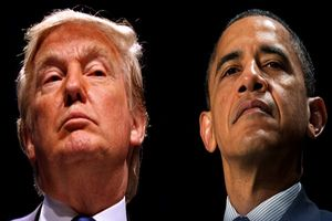 ترامپ: هنگام تماشای سخنرانی اوباما خوابم بُرد