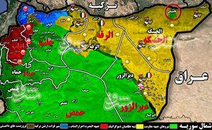 سناریوی جدید آمریکا در شمال شرق سوریه برای اختلال در عملیات شمال؛ شهادت ۱۴ تن از نیروهای سوری در استان حسکه با دخالت شبه نظامیان کُرد + نقشه میدانی