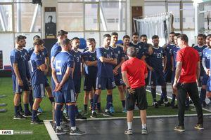 تمرین آمادهسازی تیم ملی فوتبال در پک