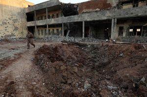 جدیدترین تصاویر از محل اصابت موشک به ساختمان حزب دموکرات