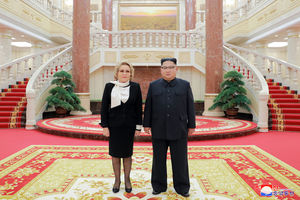 دیدار رئیس شورای فدراسیون روسیه با رهبر کره شمالی
