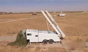 موشک های فاتح 110 قبل از شلیک به سمت مقر تروریستهای دموکرات
