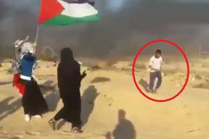 فیلم/ تیراندازی صهیونیستها به سمت جوان معلول!