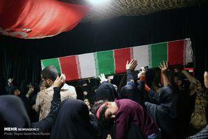 وداع با پیکر ۲ شهید اغتشاشات تهران در معراج الشهدا