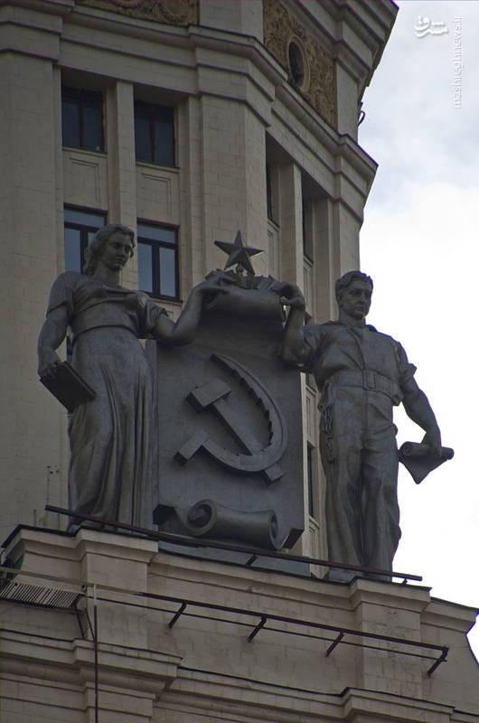 مجسمه های آسمان خراش در ساحل کاتلنیچسکی در مسکو