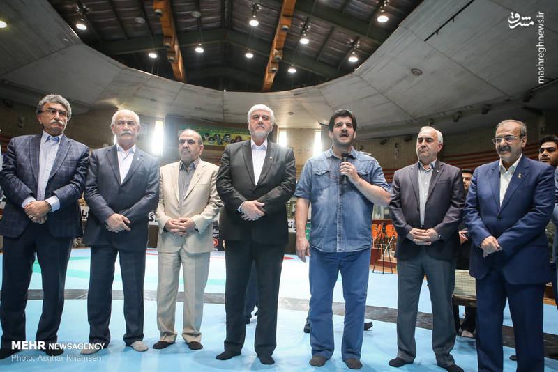 مراسم تجلیل از مدال آوران کشتی بازیهای آسیایی