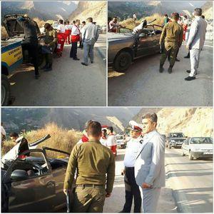 ریزش کوه در جاده هراز سبب مصدومیت چهار نفر و مرگ یک نفر شد
