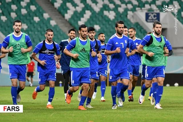 تمرین تیم ملی فوتبال در ورزشگاه ملی تاشکند