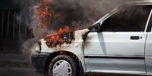 آتشسوزی خودرو در پی مشاجره لفظی سرنشین با راننده