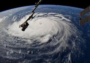تصویر ماهوارهای ناسا از طوفان فلورانس