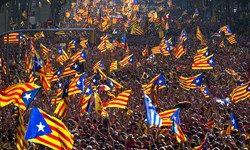 تظاهرات یک میلیون طرفدار استقلال در بارسلون