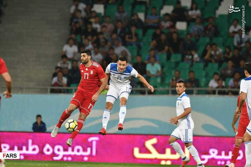 پیروزی تیم ملی ایران مقابل ازبکستان