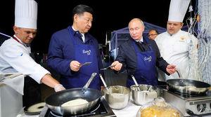 عکس/ آشپزی پوتین و رئیس جمهور چین
