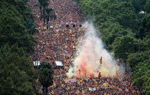 تظاهرات گسترده جدایی طلبان در بارسلونا