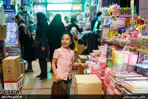 عکس/ بازار لوازم التحریر در آستانه ماه مهر