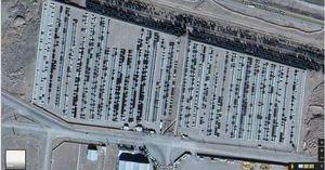 تصاویر هوایی از انبار ۵۰۰۰ خودرو در سلفچگان