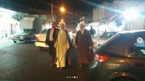 پیاده روی شبانه امام جمعه رشت در کوچه پس کوچههای شهر +تصاویر