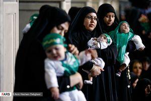 عکس/ آئین شیرخوارگان حسینی در مهدیه تهران