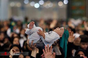 عکس/ آیین شیرخوارگان حسینی در مصلای تهران