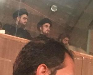 عزاداری سید احمد خمینی در جایگاه وی آی پی!
