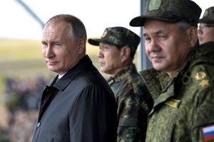 پوتین در بزرگترین رزمایش تاریخ روسیه