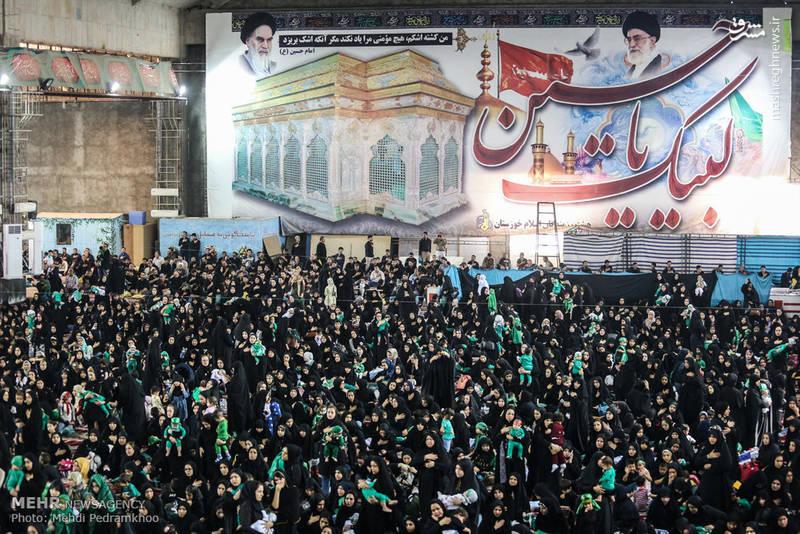 مراسم شیرخوارگان حسینی در مصلی امام خمینی شهر اهواز