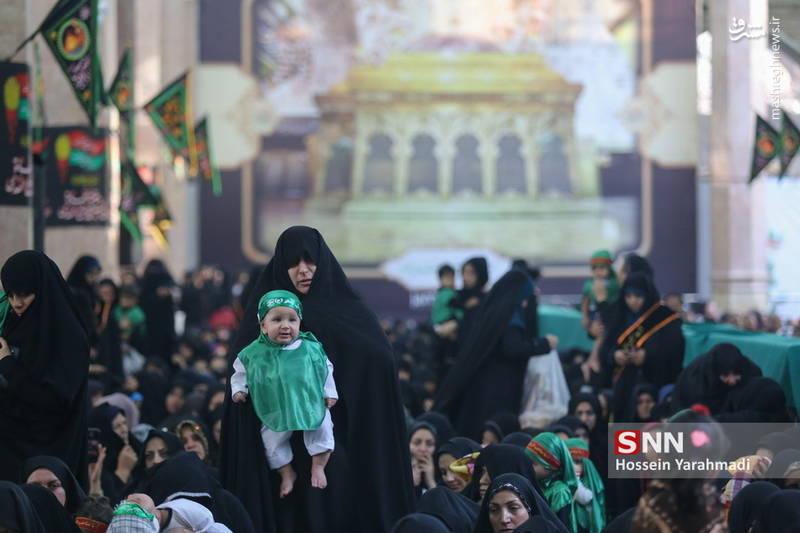 مراسم شیرخوارگان حسینی در شهر مقدس قم