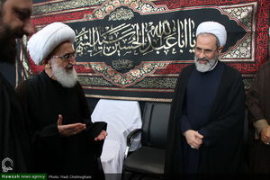 عکس/ عزاداری امام حسین(ع) در بیوت مراجع
