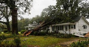 عکس/ خسارات طوفان سهمگین در آمریکا