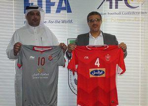 عکس/ رونمایی از پیراهن تیمهای پرسپولیس و الدحیل