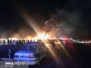 حادثه مرگبار اتوبوس در محور نطنز