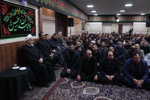 دومین روز مراسم عزاداری حضرت اباعبدالله الحسین (ع) با حضور دکتر روحانی