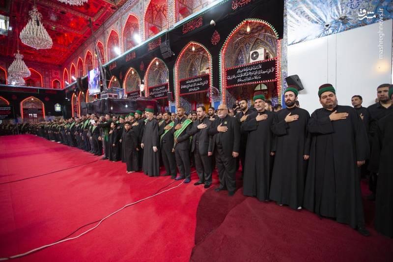 عزاداری خادمان آستانهای مقدس حسینی و عباسی