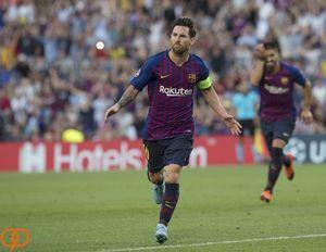 پیروزی پر گل بارسلونا با هتریک مسی +عکس و فیلم