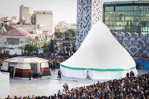 عکس/ مراسم خیمه سوزان در میدان امام حسین (ع)