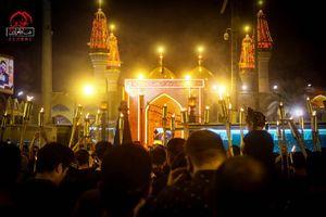 عکس/ شور حسینی در حرم شریفین کاظمین