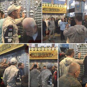 عکس/ عرض احترام سربازان روسی به ساحت مقدس حضرت زینب