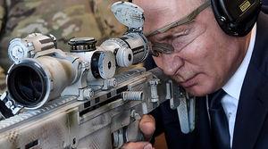 شلیک پوتین با سلاح تکتیرانداز