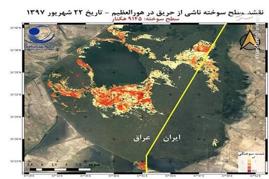 حریق هورالعظیم به بخش ایران سرایت کرد +عکس