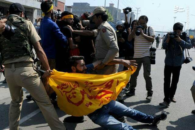 حمله پلیس هند به شیعیان عزادار در کشمیر