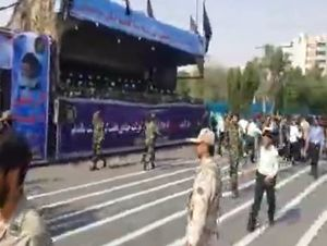 تصاویر اولیه از حمله تروریستی به مراسم رژه نیروهای مسلح در اهواز