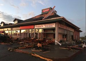 عکس/ خسارت طوفان مهیب در کانادا